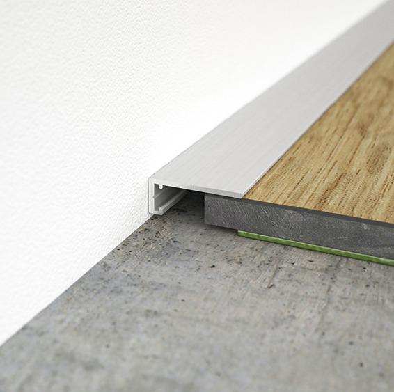 Abschlussprofil für Bodenstärken ab 5 mm. Anschlussfuge 5 - 13 mm.