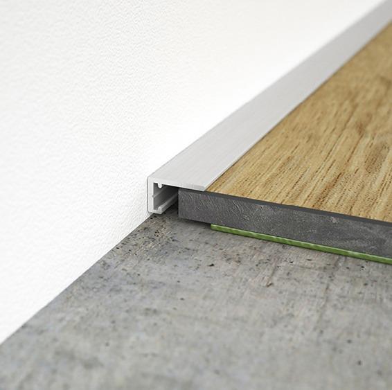 Abschlussprofil für Bodenstärken ab 5 mm. Anschlussfuge 5 - 8 mm.