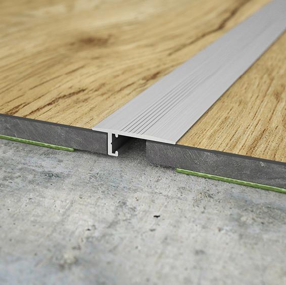 Übergangsprofil für Bodenstärken ab 5 mm. Anschlussfuge 5 – 13 mm.