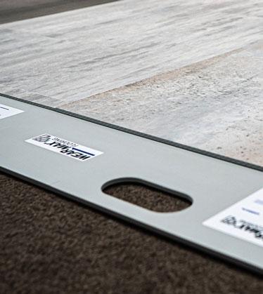 WEARMAX Flooring Musterplatte aus einem Musterständer, Dekor Stone Sevilla
